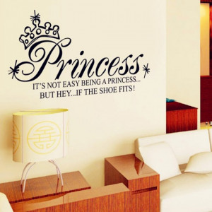 Princess Art Quote Wall Decals