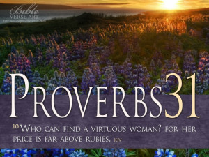 Proverbs 31:10 – Virtuous Woman Papel de Parede Imagem