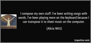 More Alicia Witt Quotes