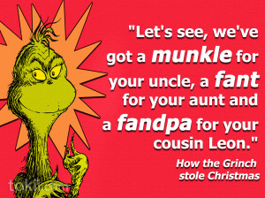 Suess How The Grinch Stole Christmas Quote Vinyl Wall Saying