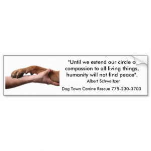 Albert Schweitzer quote Bumper Sticker