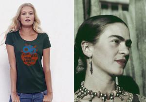 Frida Kahlo Quote Flower Frame | Organic cotton WOMEN t-shirt 120gsm ...