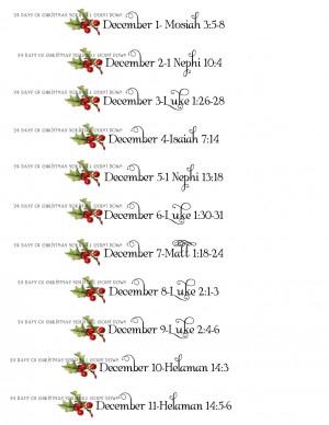 Christmas Scripture Advent Calendar and Printables