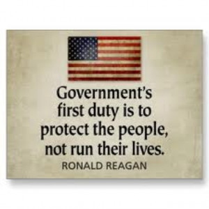 Ronald Reagan quote - less government.