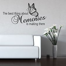 Grandchildren Making Memories Excuse Mess Wall Sticker Quote Letters ...