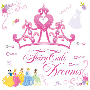 ... Stick By RoomMates Disney Princess – Crown Giant Wall Decal BUY NOW