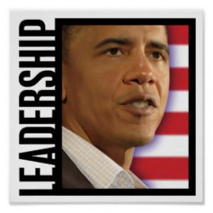 President Obama-LEADERSHIP Print