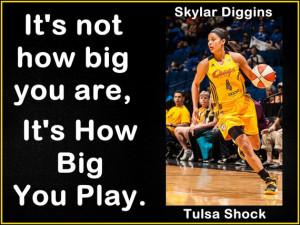 Basketball Poster Skylar Diggins Tulsa Shock Photo Quote Wall Art 8x11 ...