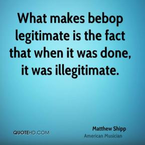 Matthew Shipp - What makes bebop legitimate is the fact that when it ...