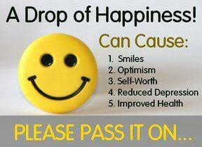 Drop of Happiness ~ Quote worth spreading