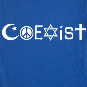 Coexist Shirt Peace Love...