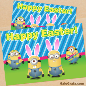 free easter minion card FREE Printable Despicable Me Easter Minion ...