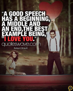 good speech has a beginning Love quote pictures