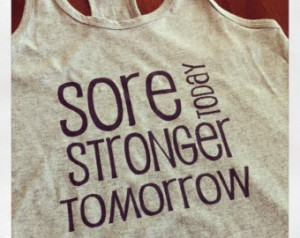 ... going to get sore i am sore today i find that interesting because i