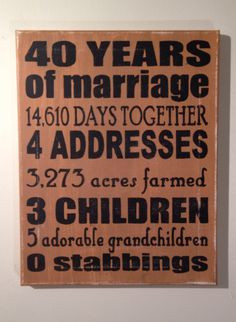 Funny Gifts For Mom, 50Th Wedding Anniversary Gifts, Parents 40Th ...