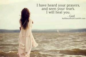 God's healing power...