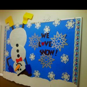 Winter Bulletin Board Ideas | Winterbulletin board | classroom holiday ...