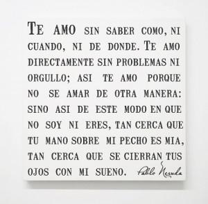 Pablo Neruda Love Poem Canvas, Spanish Quotes, Literary Wall Decor ...