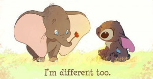 cartoon, cute, dumbo, quote, stitch, sweet