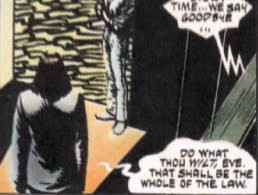 The hero in V for Vendetta quoting Aleister Crowley's Book of the ...