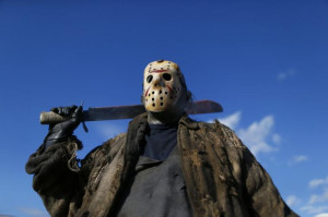 poses as Jason Voorhees, the center of the