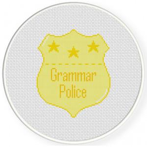 grammar police cross stitch pattern $ 1 00 grammar police