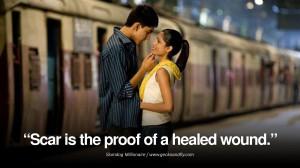 slumdog millionaire scar proof love movie quotes