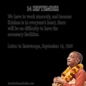 Srila Prabhupada Quotes For Month September 14