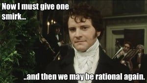 Picture from Pride and Prejudice, Quote from Northanger Abbey