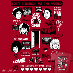 Scott Pilgrim Quotes available at RedBubble