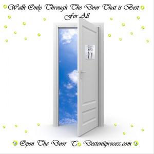 When one door closes another door opens, but we so often look so long ...