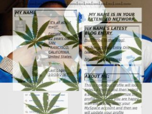 Lil Boosie And Webbie - Marijuana MySpace Layout Preview