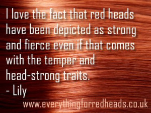 love the fact that red heads have been depicted as strong and fierce ...