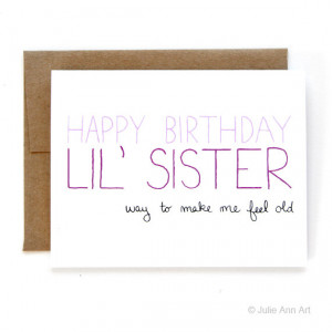 Sister Birthday Card - Birthday Card For Little Sister - Way To Make ...