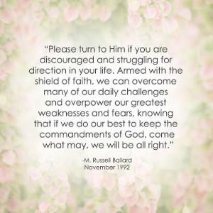 LDS Hope Quote | M. Russell Ballard http://sprinklesonmyicecream ...