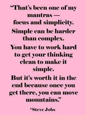 Focus & Simplicity | Steve Jobs Quotes | The Tao of Dana