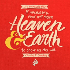 ... earth to show us His will. Charles F. Stanley, Inspirational quotes