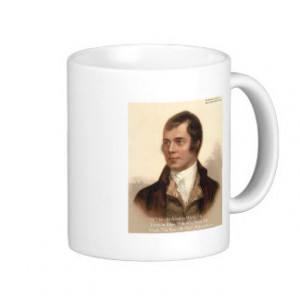 Robert Burns Famous Quote Coffee Mugs