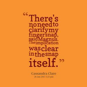 Magnus Bane Quotes