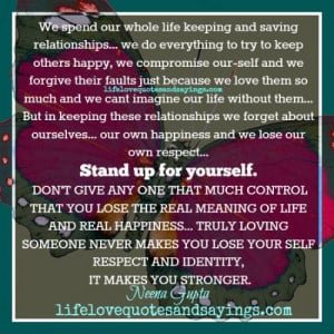 Your Self Respect And Identity..