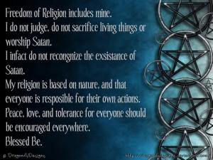Witchcraft Freedom of Religion