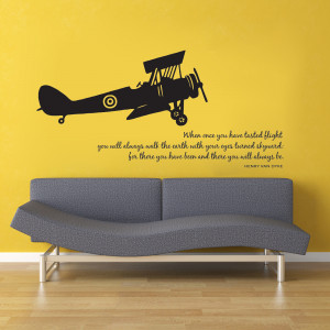 Airplane with Flying Quote Wall Graphic from Old Barn Rescue Company ...