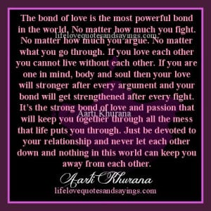 the bond of love is the most powerful bond in the world no matter how ...