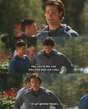 Related to Genital Herpes Funny Quote Jared Padalecki Jensen Ackles