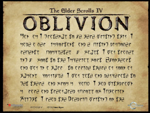 Scroll - The Elder Scrolls IV: Oblivion