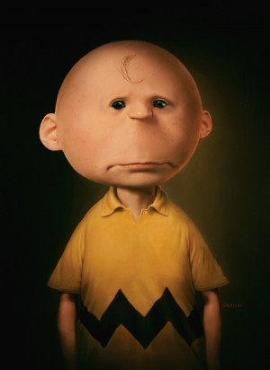 You know, like a creepy older Charlie Brown costume.
