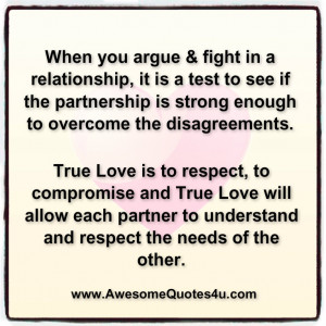 When you argue & fight in a relationship, it is a test