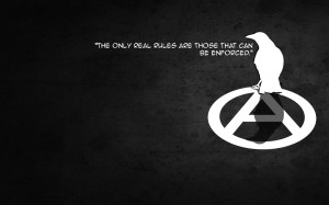 Dark - Anarchy Quote Symbol Crow.black-white Minimal Wallpaper