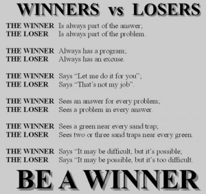 Am A Loser Quotes Loser. are you a winner?