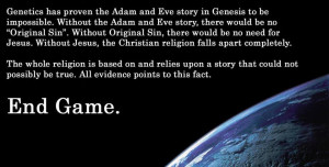... Adam And Eve Story In Genesis To Be Impossible…. ~ Religion Quote